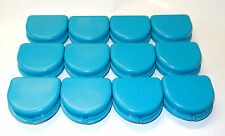 Dental Orthodontic Retainer Denture Mouth Guard Case Bleach Tray Box Turquoise