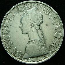 1960  Repubblica Italiana   500  lire  argento  Doppio bordo
