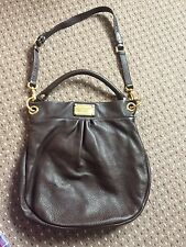 Marc by Marc Jacobs Hillier Hobo bag- dark brown with gold detailing