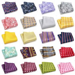 Lot 20 Packs Mens Pocket Square Handkerchief Striped Polka Dot Chest Tower Hanky
