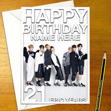 BANGTAN BOYS Personalised Birthday Card - korean bts music personalized k-pop
