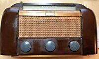 RCA Victor 66X1 Art Deco Bakelite Case AM/Short Wave Radio,~1946, Tested /Works.