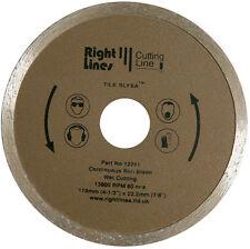 2 Diamond Disc Tile Cutting Blades For Plasplugs DWW110 110mm Wet Cutter.