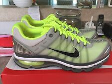 NIke Air Max 2009 Size 12 Neutral Gray Black Volt Nds
