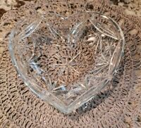 Royal Doulton Crystal 'Broadway' Heart Shaped Tray EXCELLENT