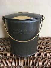 New listingOriginal Quality Antique Steel & Brass Milk Can - Weston Super Mare - 7 in
