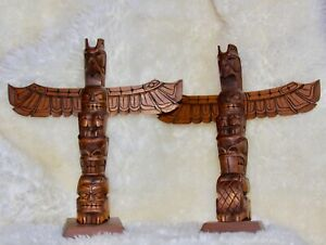 Native American Wood Carved Totems