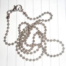 "20"" silver ball chain unisex necklace x 3 lot emo kitsch kawaii"