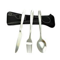 3x Stainless Steel Tableware Set Portable Silverware Travel/Camping Cutlery Set