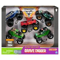 Monster Jam Grave Digger Diecast Vehicle 1:64 Scale Retro Edition 5 pack