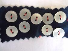 VINTAGE PLAIN MILKY-WHITE PLASTIC SHIRT BUTTONS 9 x 11mm