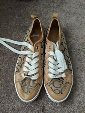 GUESS pump trainer shoes UK 7 in brown and beige