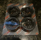 1/10 touring car wheels and tires black mesh (new)
