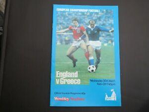 England V  Greece Euros  1983