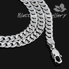 "9K 9ct White GOLD GF Open LINK Chain NECKLACE 23.5"" 26g S04C Solid MENS Womens"