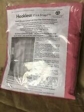 Hookless Snap in Fabric Liner for Shower Curtains 70 x 74 Inch Pink