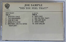 Joe Sample and the Soul Committee..Did You Feel That ?.....Rare Promo Cassette