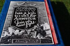 """WWII Style Vintage Posters (5) 40""""Hx30""""W Aviation, Navy, Navy Reserves, Homefro"""