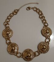 Vintage Gold Tone Chunky Necklace