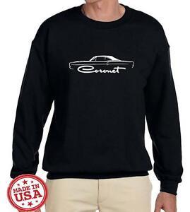 1968 1969 Dodge Coronet Hardtop Classic Outline Design Sweatshirt NEW