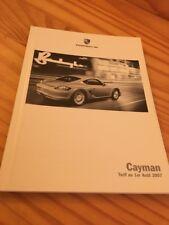 Porsche Cayman lista precio vehículos accesorios catálogo folleto 08 / 07