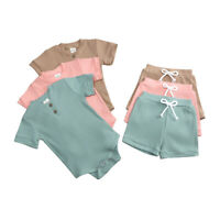 Newborn Baby Boy Girl Clothes Romper Jumpsuit Shorts Pants Toddler Outfits Set
