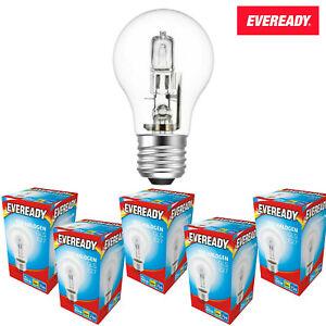 Eveready Halogen GLS Bulbs 46W = 60W WATT  ES E27 Warm White Multipacks