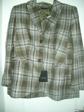Lujo Escada Couture landhaus blazer caza verde tweed Karo 42/44 1180,- Golf Club