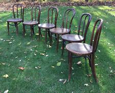 Antique Vintage Kohn Mundus Bistro Cafe Bentwood Side Chairs Czechoslovakia