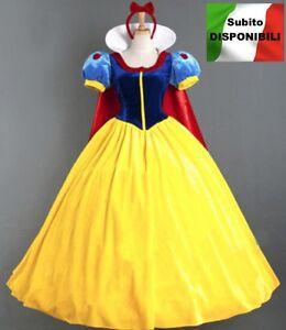 Biancaneve Vestito Carnevale Donna Dress up Snow White Woman Costume SNWW01
