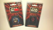 star wars episode 1 set of 2 collectible pins anakin Darth Maul applause