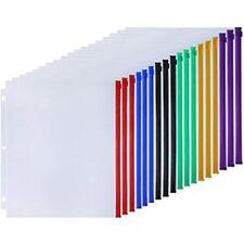 18pcs Binder Pockets Letter Size 3 Holes Pouch Folders For 3 Ring Loose Leaf Pvc
