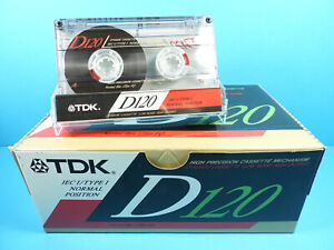 🙈 10x TDK D 120 * BOX PACK * Tapes Cassettes Kassetten кассеты Casetes *