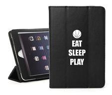 For iPad 2 3 4 5 Air Mini Pro Leather Smart Case Cover Eat Sleep Basketball