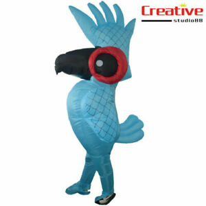 Adults Parrot Inflatable Halloween Birthday Party Funny Blow up Cosplay Costume