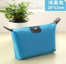 New Women cosmetic bag lady canvas storage Sky Blue purse handbag wallet