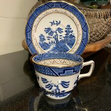 "Booth's Real Old Willow Royal Doulton 2 3/4"" Breakfast Cup & Saucer - 4 Avail."