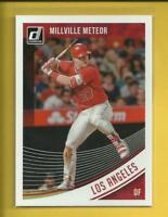 Mike Trout 2018 Donruss Name Variation Millville Meteor Card # 155 L A Angels