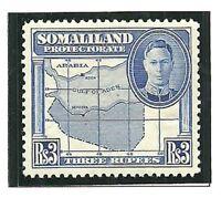 Album Treasures Somilaland  Scott # 106  3r  George VI  Map  Mint NH