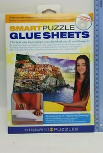 Adhesive Smart Puzzle Glue Sheets. 8 Sheets per Pack