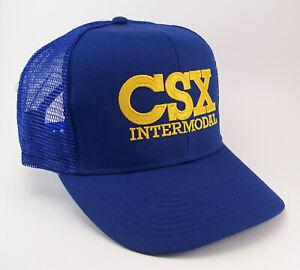 CSX Intermodal Railroad Embroidered Mesh Cap Hat #40-6022RM