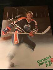 WAYNE GRETZKY EDMONTON OILERS 1980 s 7up ADVERTISING POSTER 25