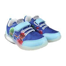 PJ Maschere Ragazzi Sneaker Basse Scarpe Da Ginnastica Sportive Blu Bambino taglie UK 6-12