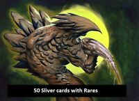 50 Sliver Lot with Rares! Collection - EDH - Magic the Gathering MTG FTG