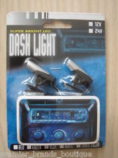 NEW BLUE NEON IN CAR BODY KIT INTERIOR SECURITY FLASH ALARM BULB LED LIGHTING
