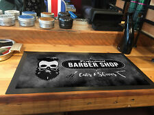 Smart Skull grunge Barber shop, cuts & shaves  - Barbers Shop Counter mat