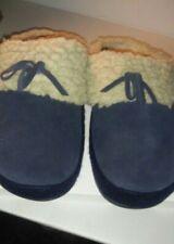 Fitflop Women's House Slippers Siz 10 Dark Blue Suede Fleece  Micro Wobble Board