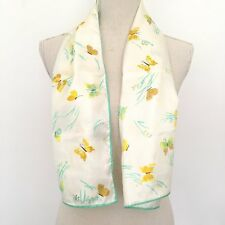 Vintage Vera Ladybug Long Scarf 14 X 44 Butterflies Polyester Made In Japan