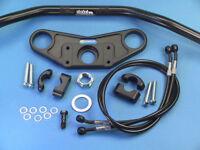 ABM Superbike Lenker Umbau  für HONDA CBR 1000-F (SC21 + SC24) schwarz eloxiert