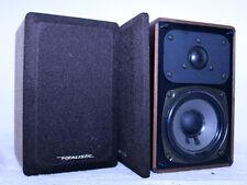 Vintage Pair Realistic Radio Shack 7w Mini Monitor Stereo Speakers ~ Nice Walnut